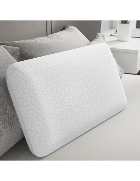 BedStory Memory Foam Pillows for Bed 1 Pack, CertiPUR-US Certified Bed Pillow for Side and Back Sleepers with Removable Cover