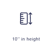 10inch in height