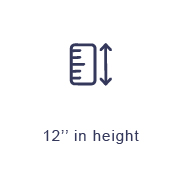 12inch in height